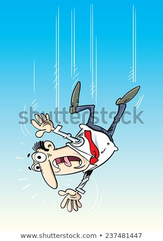Falling Person Screaming With Arms Outstretched Stock photo © tobkatrina