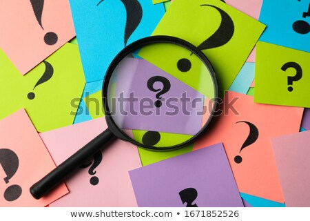 Сток-фото: Magnifying Glass - What Who How Where When Why