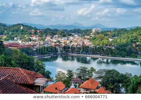 eski · budist · Sri · Lanka · şehir · bulutlar · taş - stok fotoğraf © joyr