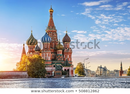Stock photo: cathedral of st. basil in  moscow