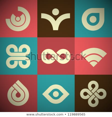 antique style abstract icons stock photo © cidepix