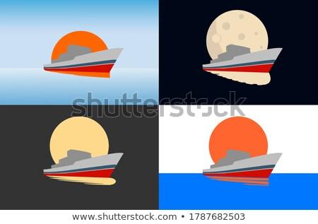 Schip haven zee anker boot Stockfoto © jet_spider