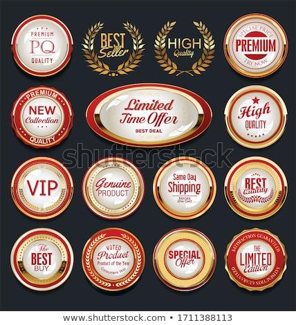 коллекция звездой тень кнопки продажи Сток-фото © wingedcats