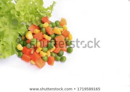 Yellow corn and green beans Stock photo © RuslanOmega