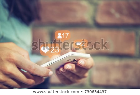 Hands Touch Social Media Icon Stock photo © bloomua