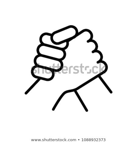 Arm wrestling icon stock photo © sifis