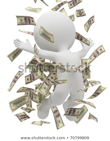 3D wenig Menschen Dollarzeichen Gold Bild Stock foto © AnatolyM