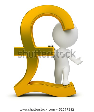 3d small people - pound sign stock photo © AnatolyM
