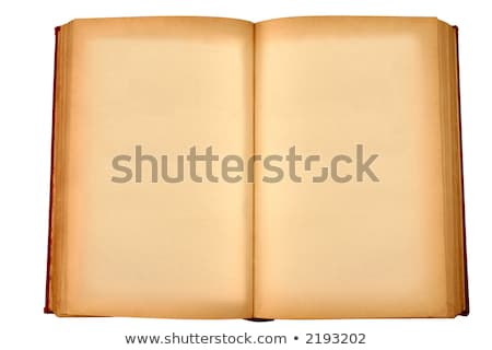 old book with blank yellow stained pages waiting for some text stock photo © latent