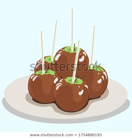 karamel · appel · cake · snoep · vakantie - stockfoto © devon