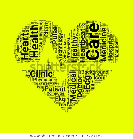 valentines day heart shaped word cloud stock photo © mybaitshop