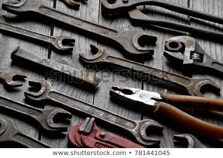 Antiguos herramienta establecer hasta abierto par Foto stock © thisboy
