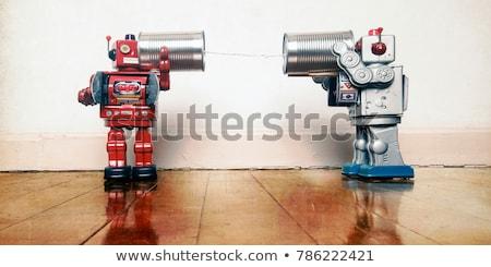 amor · vetor · diversao · menino · robô · dom - foto stock © lenm
