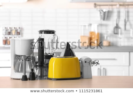 Konyhai gépek fehér konyha kék árnyék keverő Stock fotó © jossdiim