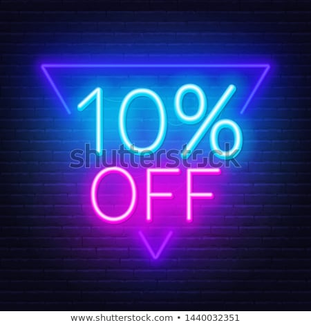 Percent discount shiny symbol  stock photo © deyangeorgiev