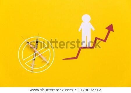 Yellow paper and prohibition sign Stock photo © deyangeorgiev