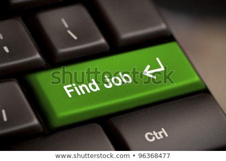 зеленый · находить · работу · кнопки · ключевые - Сток-фото © REDPIXEL