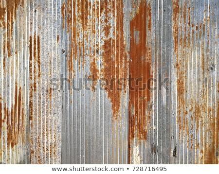 background image of rusty corrugated iron sheets  Stock photo © happydancing