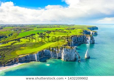part · kilátás · város · Normandia · Franciaország · égbolt - stock fotó © njaj