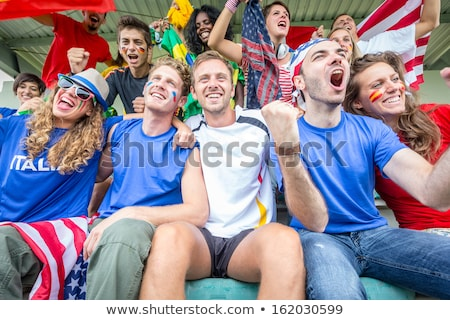 Friends supporting the Italian football team Stock photo © photography33
