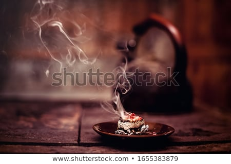 Tütsü duman siyah yangın dizayn arka plan Stok fotoğraf © smithore