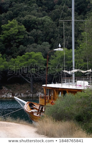 Traditional sailboats moored in Adriatic Sea Stock photo © frank11