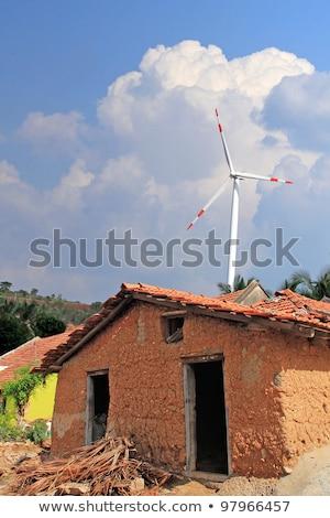Vieux boue maison rural Inde vent Photo stock © mnsanthoshkumar