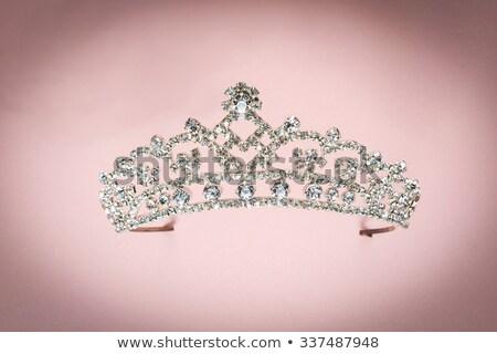 prata · diamante · projeto · coroa · jóias · fadas - foto stock © carodi