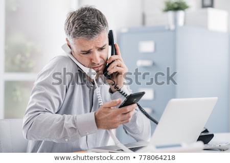 empresario · dos · blanco · negocios · Internet - foto stock © photography33
