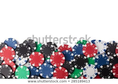 Juego chips casino diseno espacio verde Foto stock © photosoup