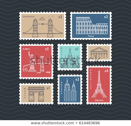 Stock photo: Postal stamp
