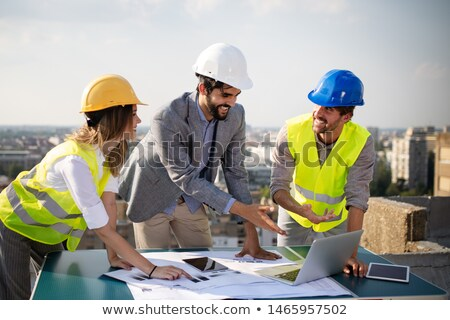 Architect on construciton site Stock photo © photography33