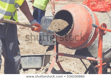 Cement mixer business tuin wiel bouwen Stockfoto © photography33