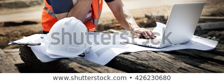 Surveyor on site with a laptop Stock photo © photography33