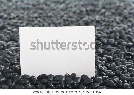Raw Black Beans with Blank Card stock photo © ildi