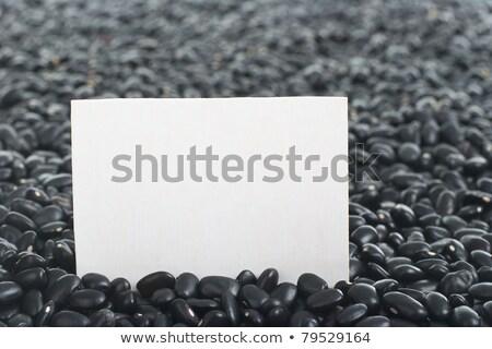 Raw Black Beans with Blank Card stock photo © ildi