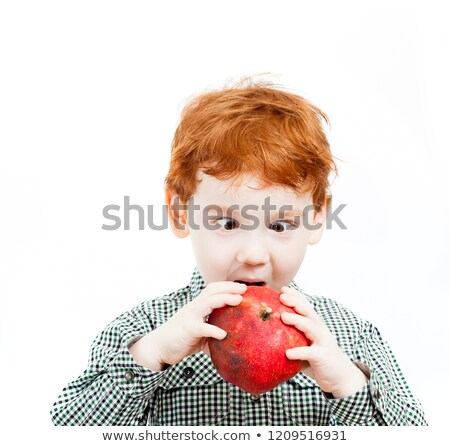 Little boy holding pieces of fruit stock photo © photography33
