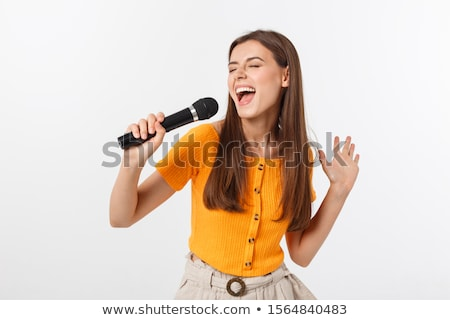 Singer girl. Stock photo © Kurhan