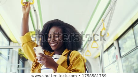 африканских · бизнеса · Lady · телефон · вид · сбоку · сидят - Сток-фото © photography33