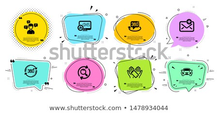 vector envelope full of colorful bubbles Stock photo © orson