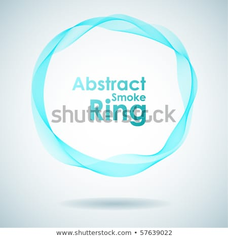 Abstract cyan smoke ring design element. Stock photo © lenapix