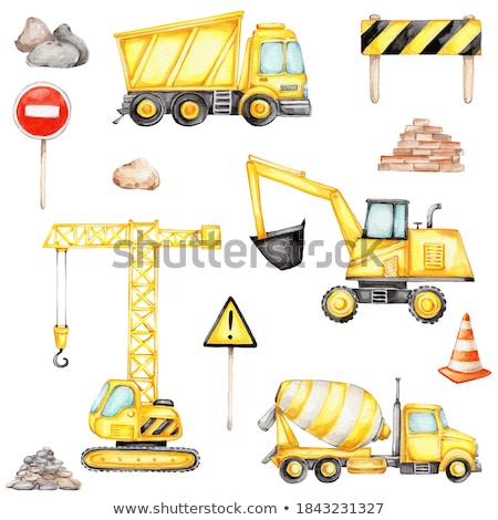 digger and trucks Stock photo © prill