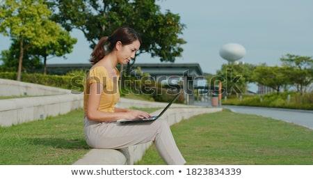 Studente bellezza esterna parco ritratto Foto d'archivio © lithian