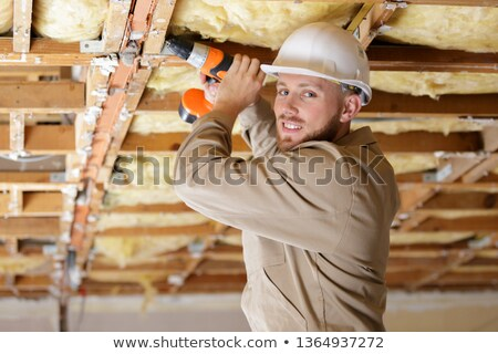 tradesman installing insulation stock photo © photography33