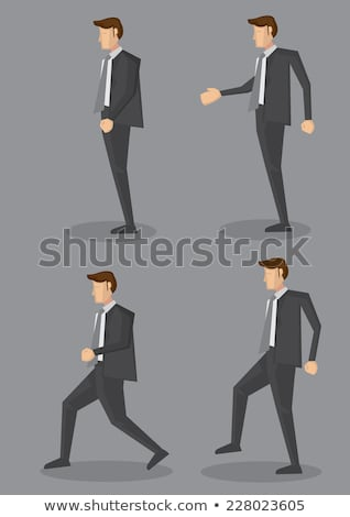Grey-haired businessman climbing steps Stock photo © photography33
