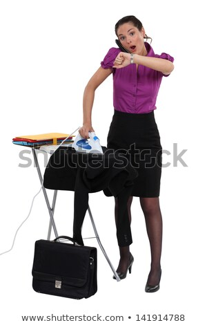 Woman doing her chores and running late. Stock photo © photography33