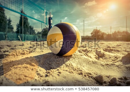 volleyball on beach at sunny day Stock photo © ssuaphoto