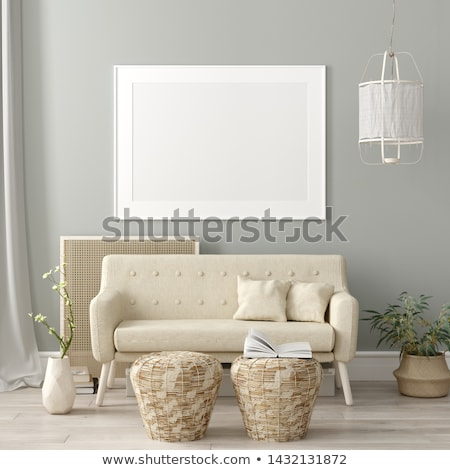 sofa in vintage room stock photo © vichie81