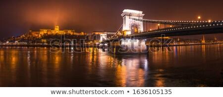 The Chain Bridge at night Stock photo © jakatics