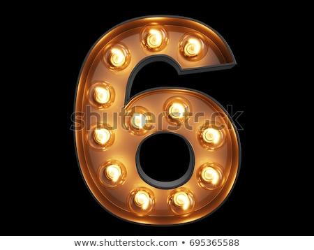 chrzcielnica · błyszczący · numer · neon · kwiatowy - zdjęcia stock © Designer_things